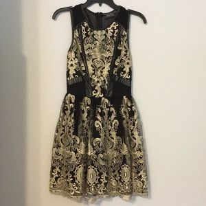 Beautiful gold embroidered cocktail dress